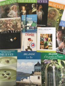Quelques exemplaires de magazines et livres réalisés par ou en collaboration The Irish Eyes